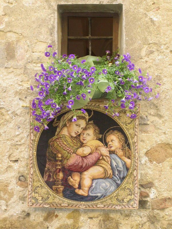 Decoration for Tuscan festival - Pienza, Siena
