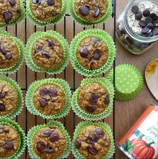 Pumpkin Protein Oat Muffins | Clean Food Crush