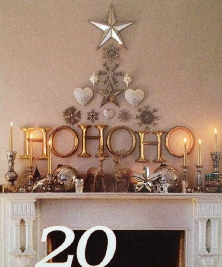Christmas decoration Cute mantel decorations for Christmas!