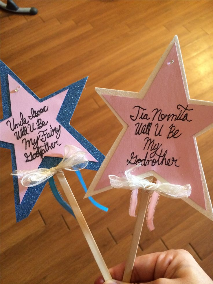 Cute way to ask someone to be your childs godparent