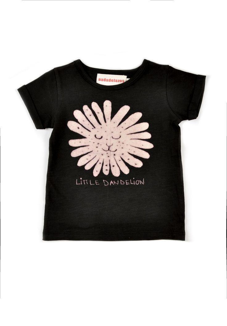 Οργανική κοντομάνικη μπλούζα - Little Dandelion