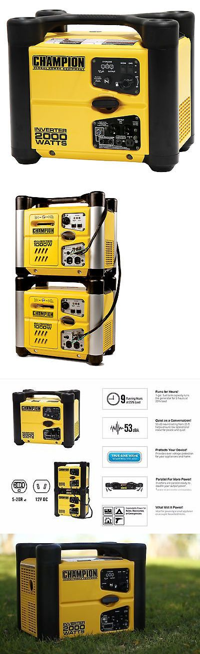 Generators and Heaters 16039: Champion Power Equipment Portable Inverter Generator 73536I BUY IT NOW ONLY: $499.0