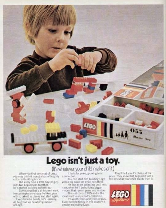 Best Lego Images On Pinterest Vintage Lego Legos And Lego City - Clever print ads from lego show children building their own future