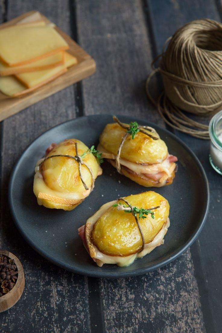 Sandwich de pommes de terre et Raclette
