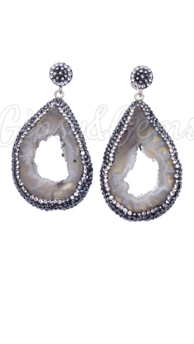 Gipsy&Gems agate amulet earrings