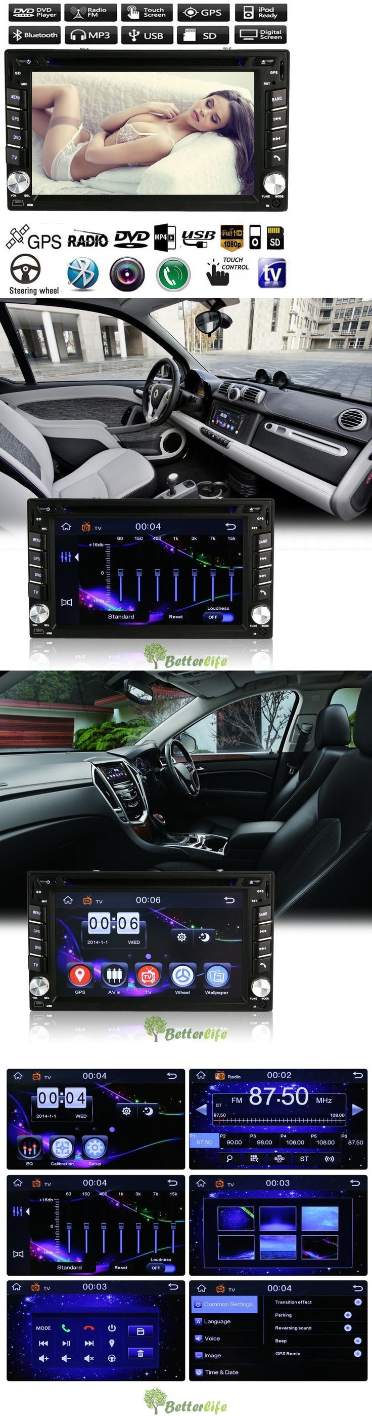 Vehicle Electronics And GPS: 6.2 Double 2Din Car Stereo Cd Dvd Player Gps Navi Bluetooth Touch Fm Radio Ipod -> BUY IT NOW ONLY: $95.99 on eBay!