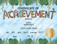 Safari Friends Certificate of Achievement Large Award Free Template