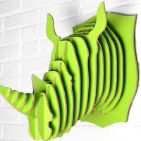 2014 de madera principal del rinoceronte artesanías, Decoración cabeza de animal - Identificación del producto : 60133348034 - m.spanish.alibaba.com