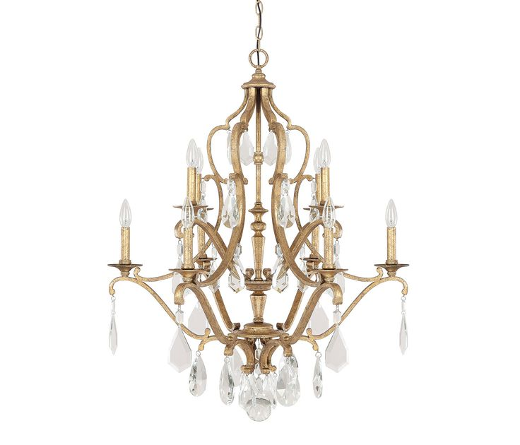 off blakely antique gold 10 light chandelier with crystals by capital lighting fixture company 10 feet of chain and 15 feet of wire dimensions inches l
