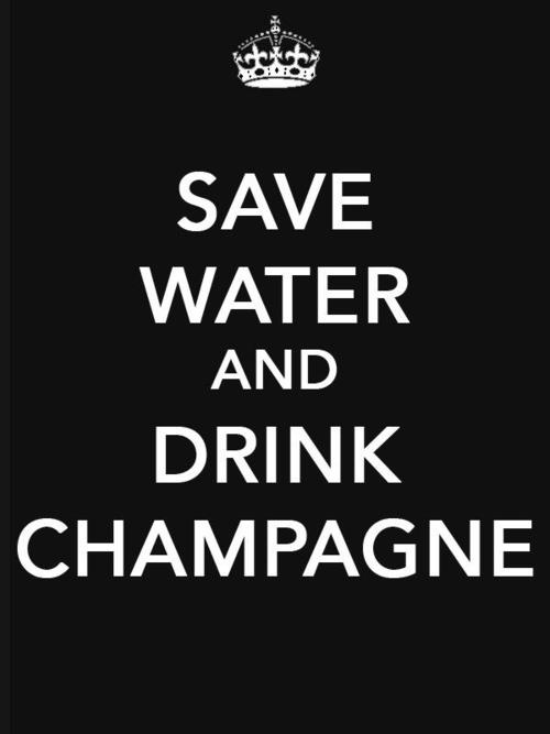 Champagne....Ma philosophie....