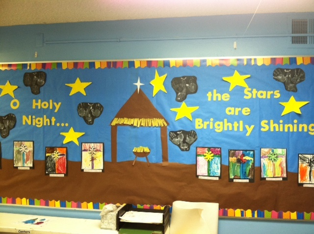 O Holy Night Christmas Bulletin Board By The Wonderful Mrs