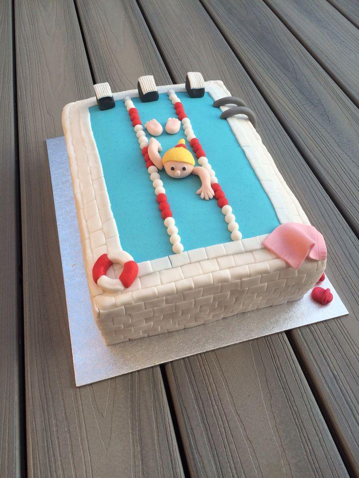 Zwembad taart Swimmingpool cake www.twinkelotje.nl