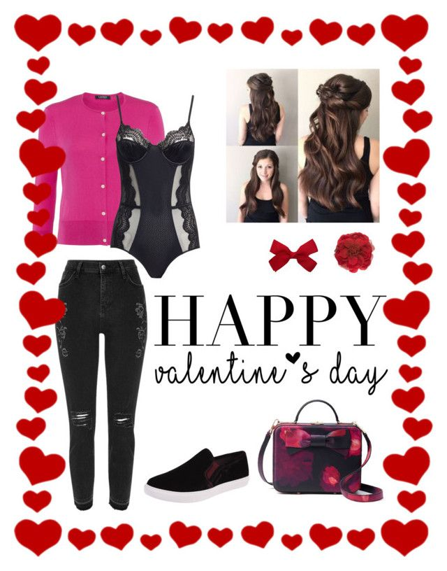 """Happy Valentine"" by rainbowfra on Polyvore featuring River Island, Lauren Ralph Lauren, Morgan Lane, Steve Madden, Gucci and Kate Spade"