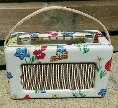 Roberts dab radio re-covered in Cath Kidston paradise bunch oilcloth.