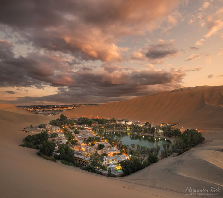 "Enjoy the Silence - The Oasis of Huacachina surrounded by huge sand dunes in the Southwest of Peru. Feel free to follow me on <a href=""https://www.facebook.com/pages/Alexander-Riek-Photography/588013561261816"">FACEBOOK</a> or to visit my <a href=""http://www.photographichorizons.com"">WEBSITE</a>"