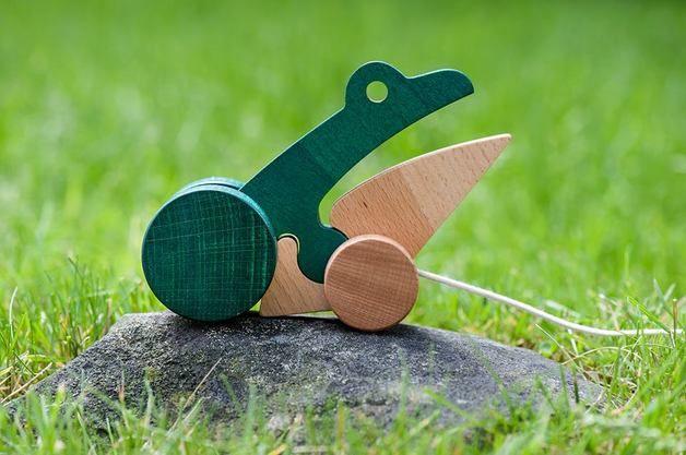 Juguetes de madera - Froggie talkie - hecho a mano por WellDone_Dobre_Rzeczy en DaWanda