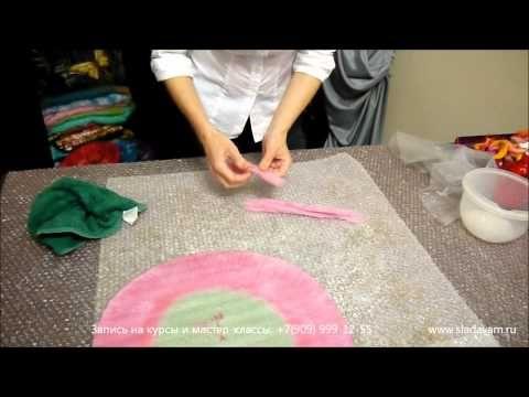 Валяние беретки из шерсти - мастер-класс - YouTube