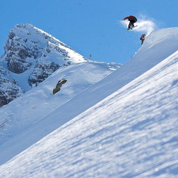 Perfect powder! #snowboard #snowboarding