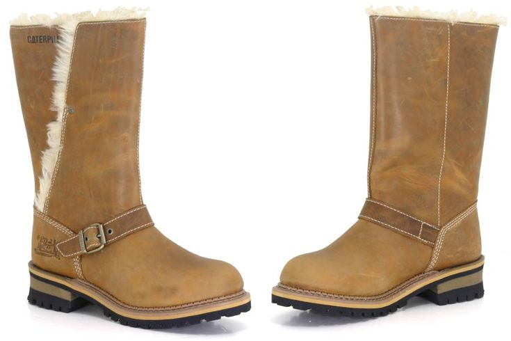 Caterpillar Boots - Mardy Fur - Golden Brown Leather Uppers with Faux Fur LiningRubber 1 3/4 HeelCollar Can Be Worn Up or Down http://www.comparestoreprices.co.uk/shoes/caterpillar-boots--mardy-fur--golden-brown.asp