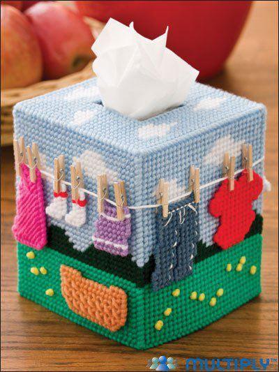 Caixas de lenços decoradas II | MEU MUNDO CRAFT