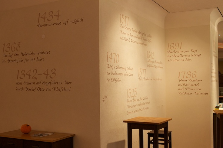 © Stefan Mikolon, 2012 - Ratskeller Würzburg - The History of Beerbrewing in Wuerzburg on the wall