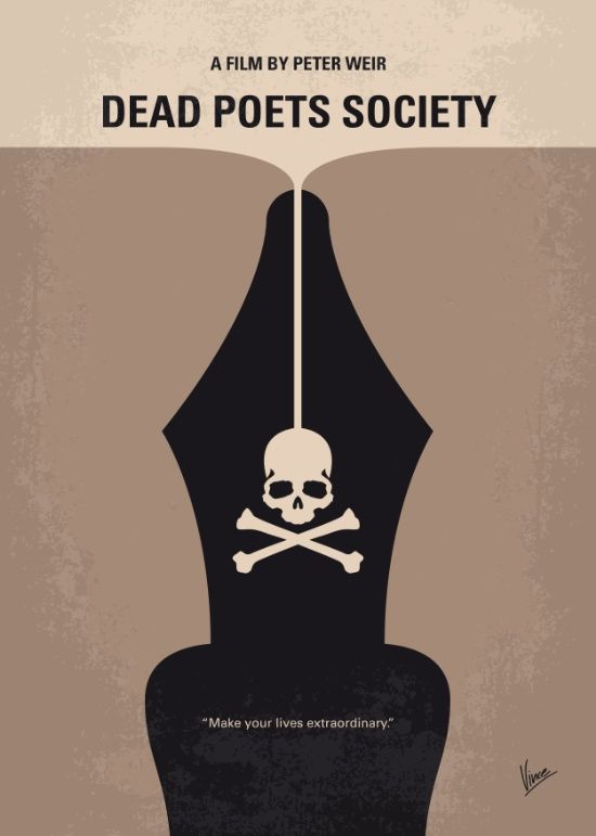 Dead Poets Society (1989) ~ Minimal Movie Poster by Chungkong #amusementphile