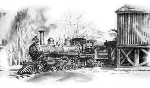 Old Train Drawing The above picture is a drawing | Old ...