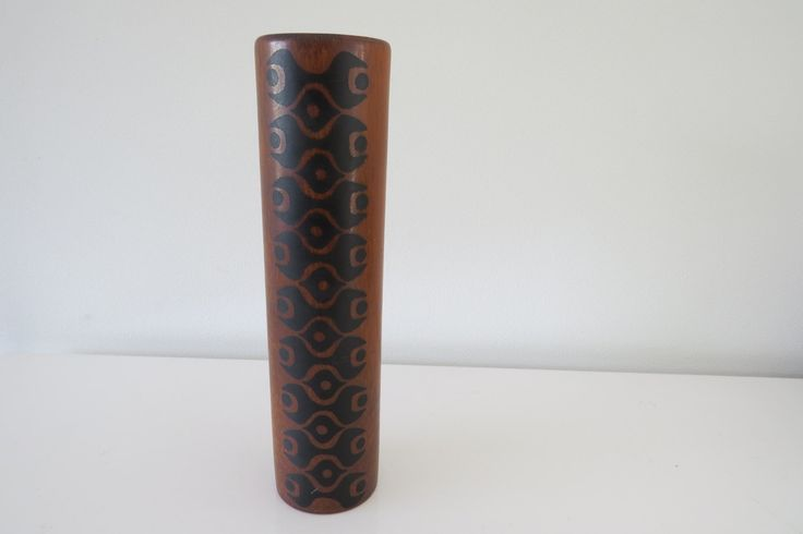 Wachtersbach - retro cilinder vaas. door Leerdamart op Etsy