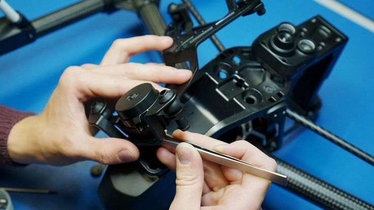 One of our engineers taking apart a DJI Inspire1 Pro Black