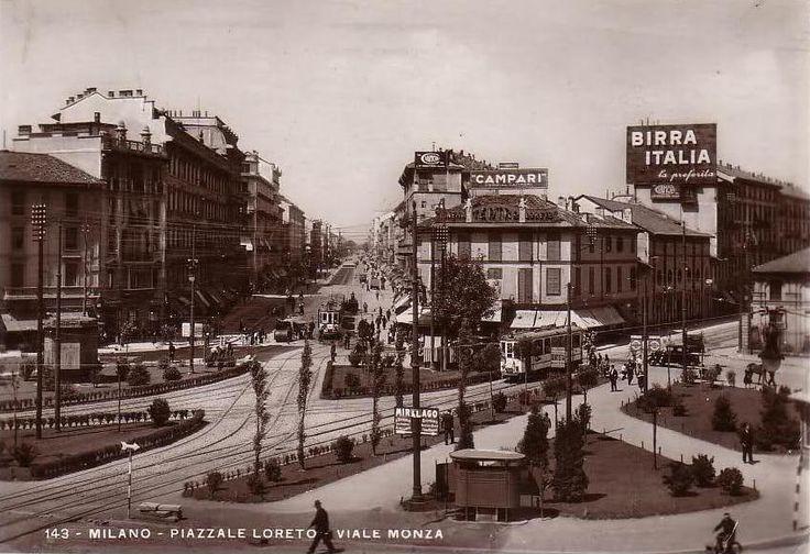Piazzale Loreto e Viale Monza con il tram per Monza