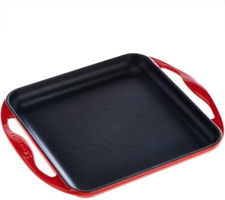 """Le Creuset 9.5"""" Square Cast Iron Griddle Pan"""