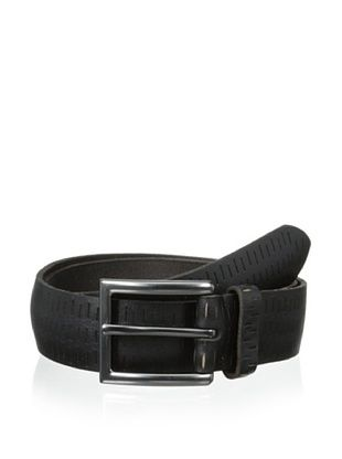 58% OFF Marc New York Men's Cut Out Perforated Belt (Black)