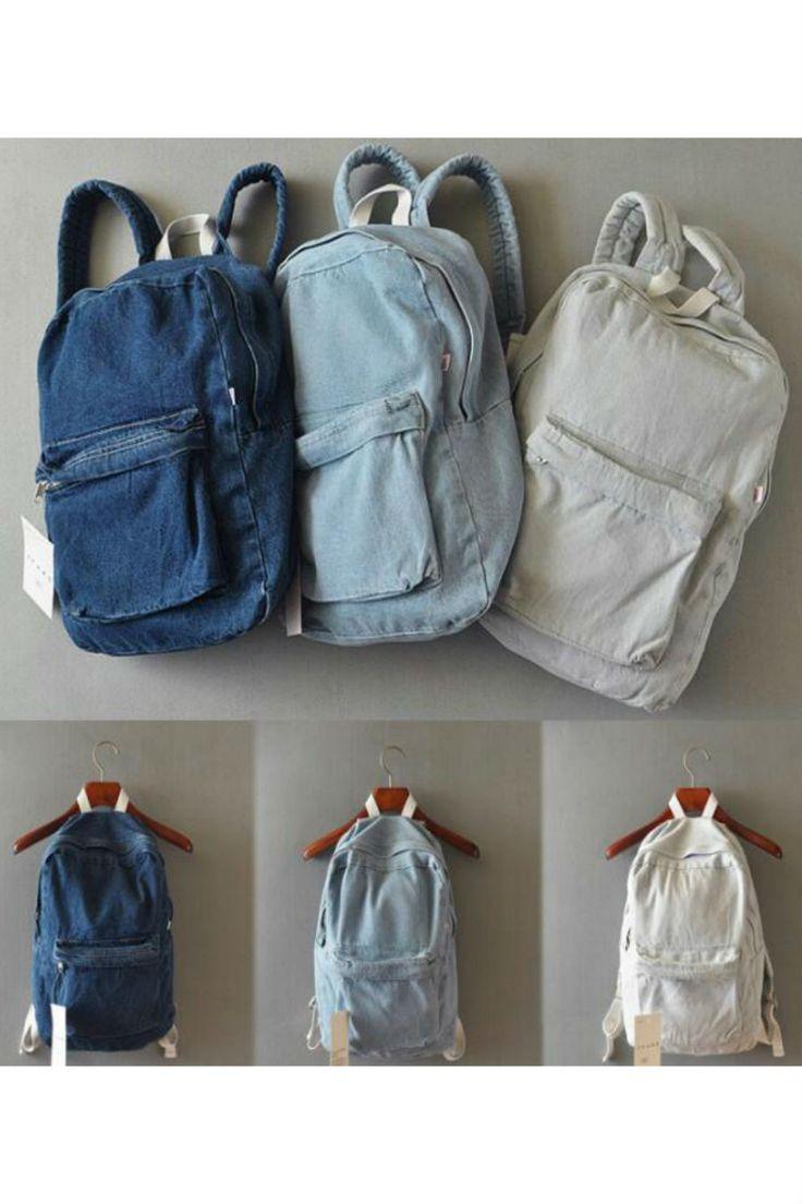 Vintage Denim Travel Backpack