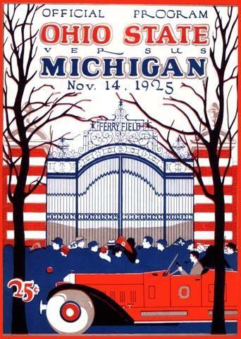 Ohio State Vs Michigan Program Nov 14 1925 Ohio