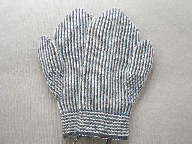 Image result for vintage twined knit mittens