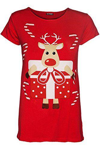 480bc1572 Be Jealous Kids Girls Xmas Cap Sleeve Reindeer Gift Present Candy Stick T  Shirt