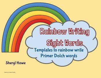 Pin rainbow spelling template on pinterest for Rainbow writing spelling words template