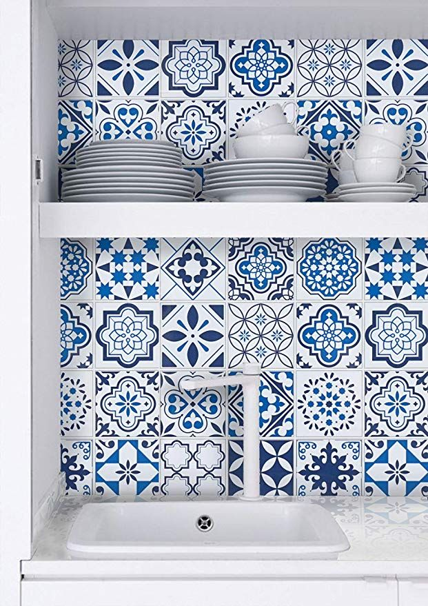 Timeet Blue Wallpaper Peel And Stick Wallpaper Glossy Contact Paper Self Adhesive Film Peel And Stick Wallpaper Dec Wallpaper Shelves Shelf Liner Contact Paper