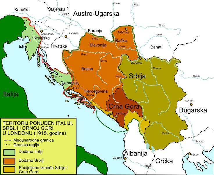 26. travnja 1915. godine sklopljen je Londonski ugovor između Velike Britanije, Francuske i Rusije s jedne i Italije s druge strane.Italija je istupila iz trojnog saveza, navijestila rat Austro-Ugarskoj i tako službeno stala na stranu Antante.