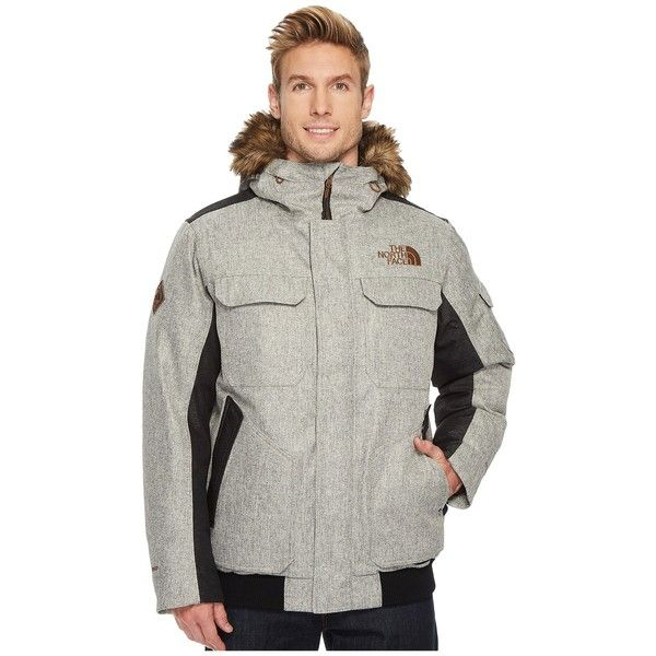 The North Face Gotham Jacket III (Monument Grey Herringbone/TNF Black... (4.060.420 IDR) ❤ liked on Polyvore featuring men's fashion, men's clothing, men's outerwear, men's jackets, men's stand collar jacket, mens insulated jackets, mens gray leather jacket, the north face mens jackets and men's insulated waterproof jacket