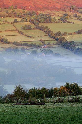 Monnow valley. Welsh English border.