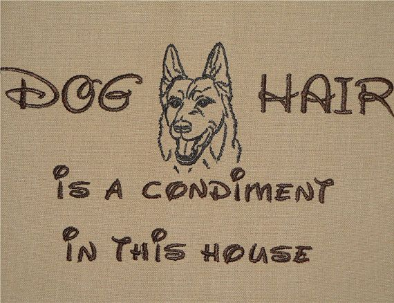 Dog Hair is a Condiment - Tea Towel - Kitchen Towel - Dish Towel - Home Decor -  German Shepherd - pinned by pin4etsy.com