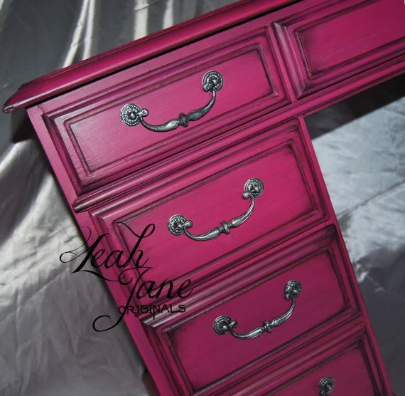 Fabulous Hot Pink Desk Dressing Vanity by TheLeahJaneOriginals, $550.00