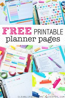 FREE Printable Planner Pages to organize your home and life! cleanlifeandhome.blogspot.com