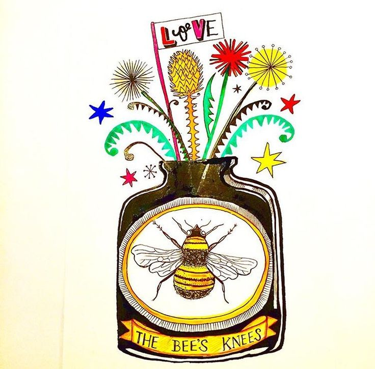 Bee Knees illustration by Lizzie Reakes
