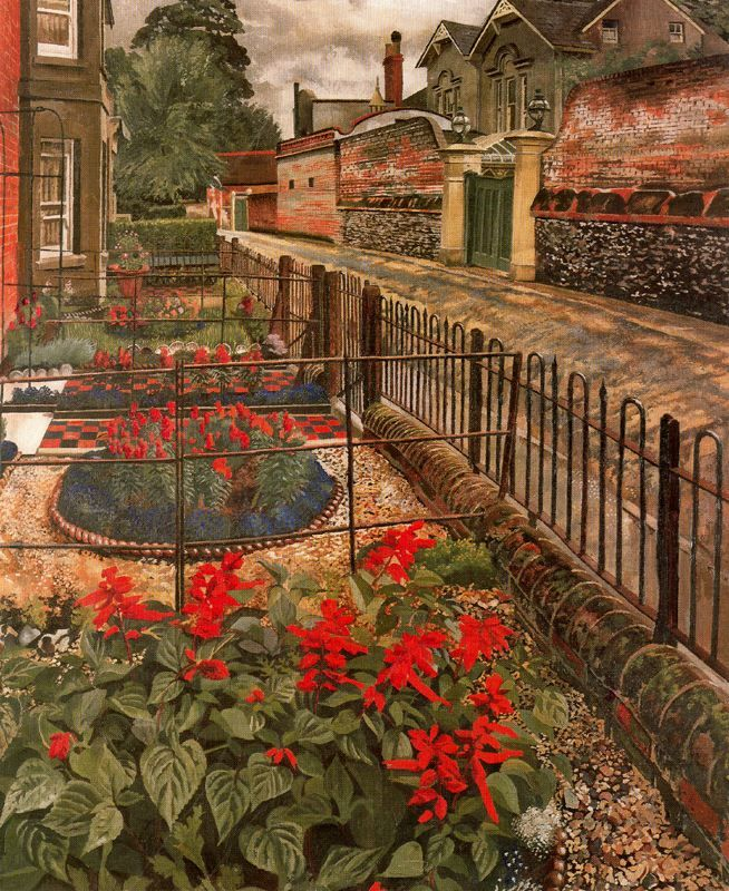 Sir Stanley Spencer (British, 1891-1959), Gardens In The Pound, Cookham, 1936, oil on canvas, 91.4 x 76.2 cm.; Leeds Museums and Galleries