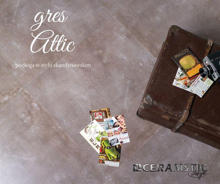 Scandinavian style floor tiles doesn't have to be white or grey. Meet Attic collection in mocha colour! /Płytki w stylu scandynawskim nie muszą być tylko szare lub białe. Poznajcie kolekcję Attic w kolorze mocha!