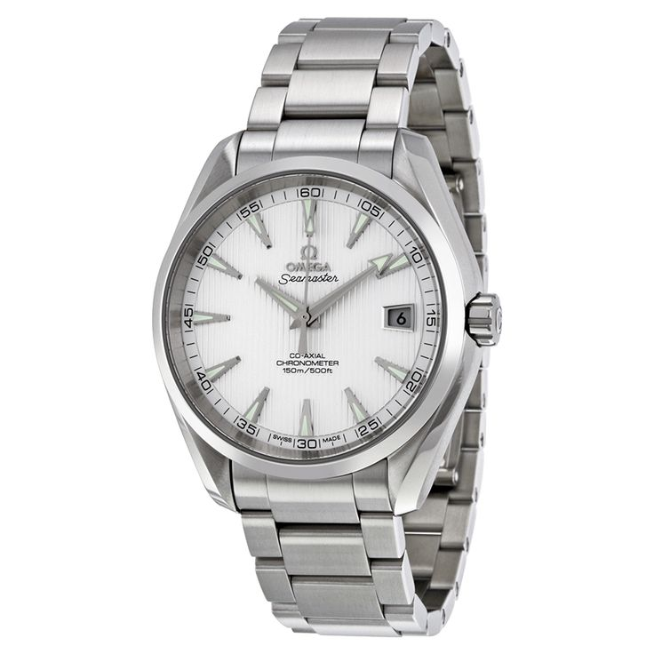 Omega Seamaster Aqua Terra Silver Dial Stainless Steel Men's Watch 23110422102001 - Seamaster Aqua Terra - Omega - Shop Watches by Brand - Jomashop