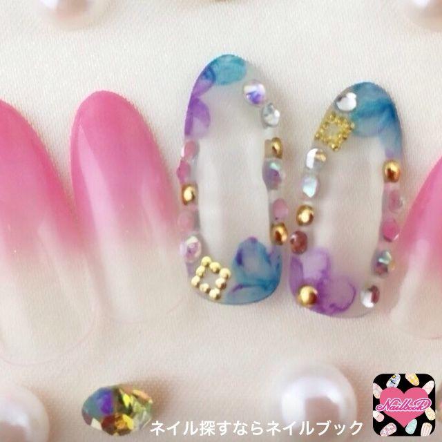 ネイル 画像 ネイルサロン-NAILSGOGO渋谷店 渋谷 1414776 ピンク グラデーション 春 ソフトジェル ハンド ミディアム