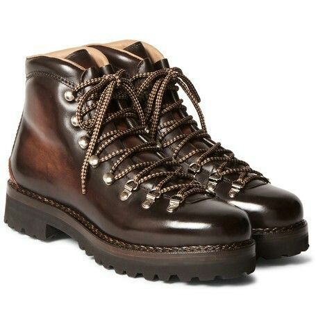 Ralph Lauren Purple Label Hiking style Boots Crafted In Italy From